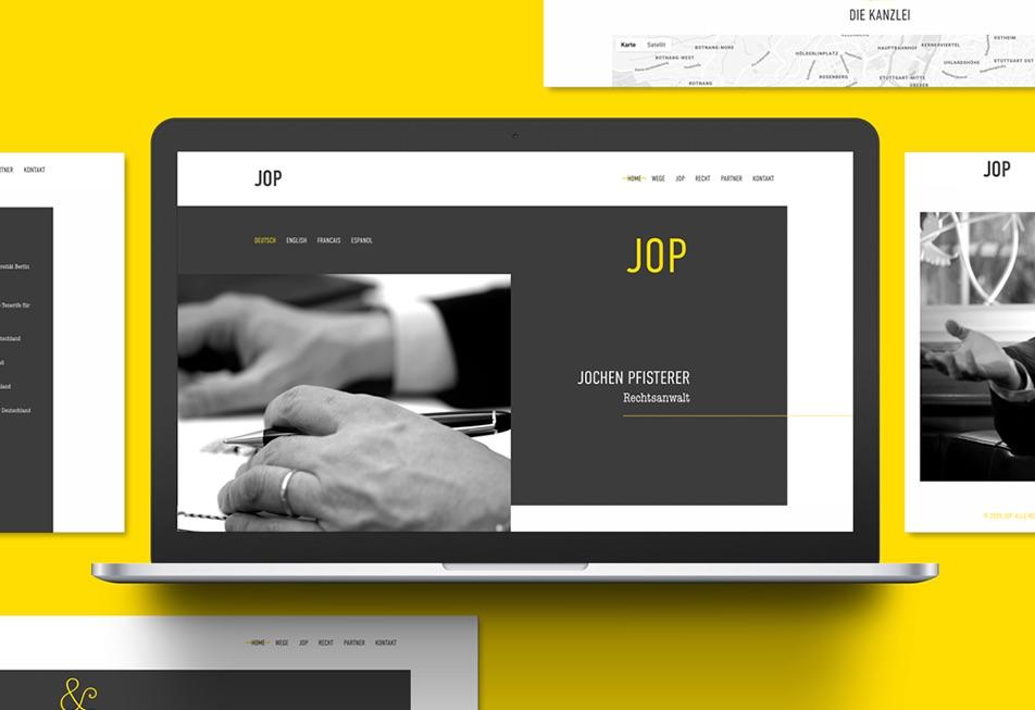 Neuer Webauftritt für den Rechtsanwalt Jochen Pfisterer